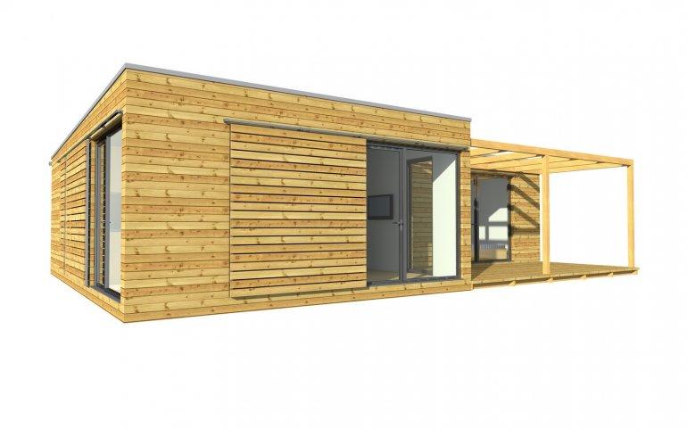 moderne Häuser 12x9 m
