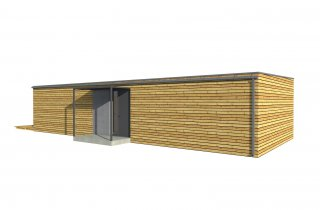 Holzhaus 15x6 m