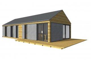 Wochenendhaus für schmales Grundstück