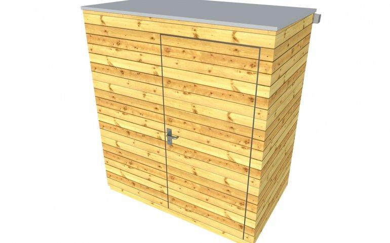 Holzhäuschen mit Pultdach