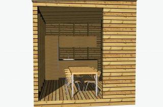 Moderne Sommerküchen : Sommerküche 4x2 4 m naturhouse®