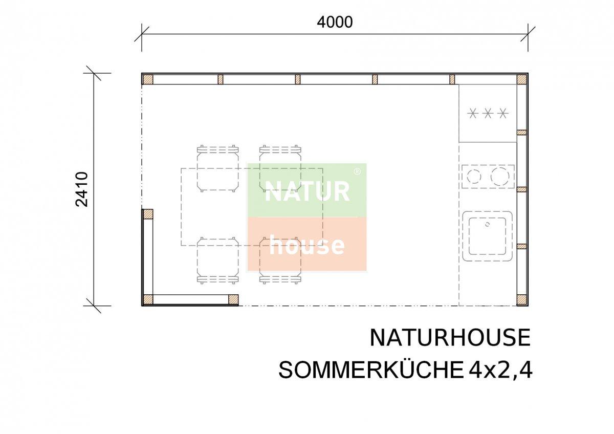 Sommerküche 4x2,4 m | NATURHOUSE® -