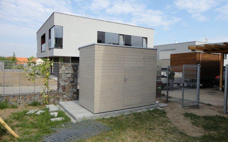 Design Gerätehaus Grau