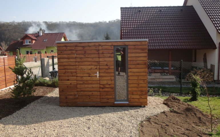 Gartenhaus mit Flachdach S5