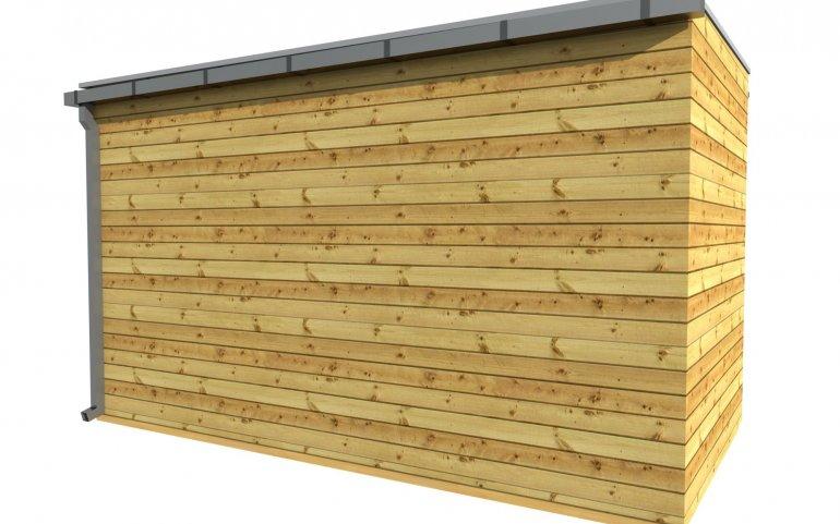 Gartenhütte 4x2 m