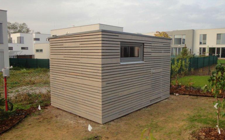 Gartenhütte grau