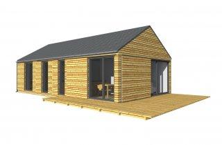 Holzhaus für schmales Grundstück 12x6 m