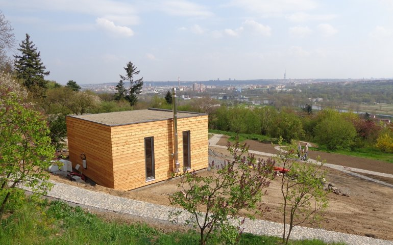 Holzhaus NATURHOUSE im Botanischer Garten