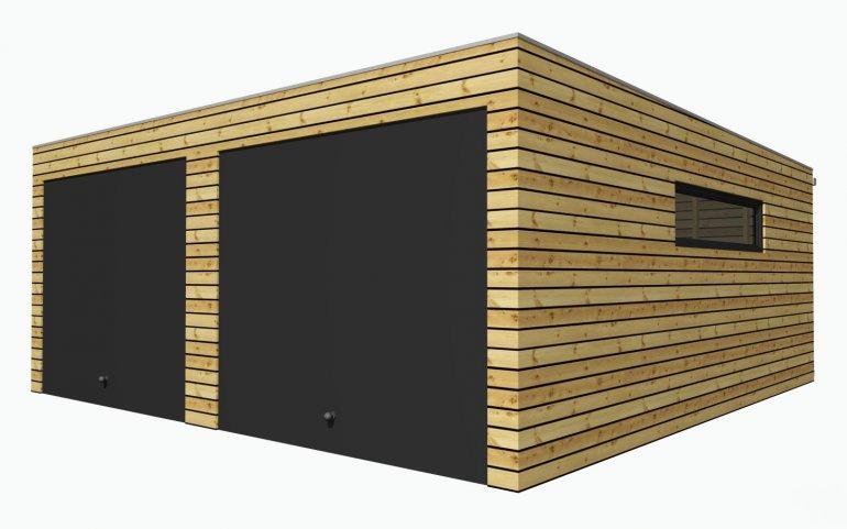 Montierte Holzgaragen 6,3x6,3 m