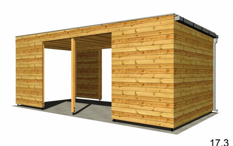 Carport P 6x3 m mit Wänden