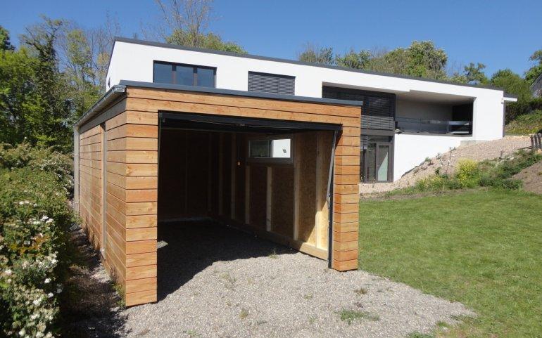 Montierte Holzgarage 6x3 m - Holzgaragen und Carports - Referenzen ...