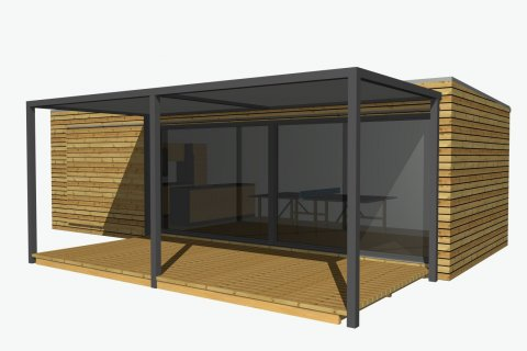 Partygartenhaus 9x4 m