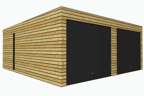 Montierte Holzgaragen 5,7x6,3 m