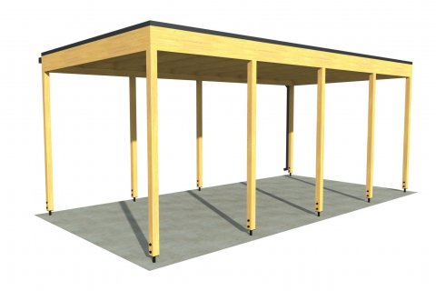 Carport P 6x3 m