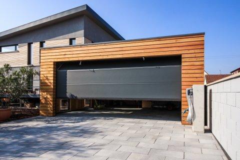 Garage modern holz  Moderne Garagen. Carport Extrabreit Carceffo Moderne Carports ...