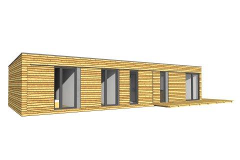 Wochenendhaus 15x6 m