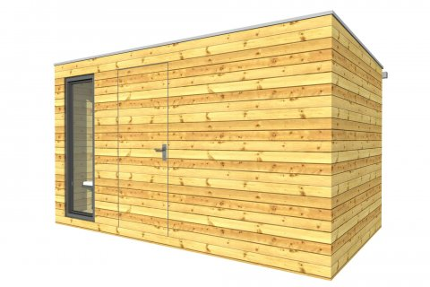 Außenholzsauna 4x2,5 m