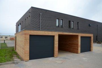 Montierte Holzgaragen + Carport NATURHOUSE - Helgoland