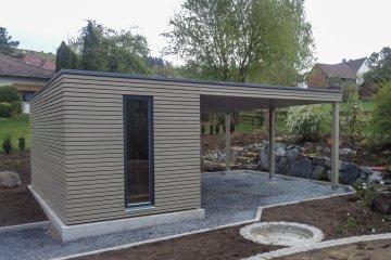 Gartenhaus 5x2,5 m + Vordach - Rödental