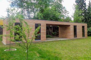 2 Gartenhäuser NATURHOUSE S12+Vordach - Sauerlach
