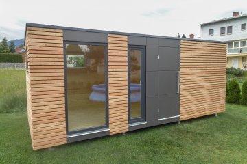 Design Gartenhaus mit Fundermax Platten - S12 - Weisskirchen