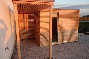 Gartenhaus S5 + Vordach - Großaitingen