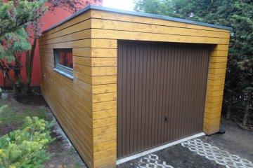 Montierte Holzgarage 6,3 x 3,25 m - Statenice