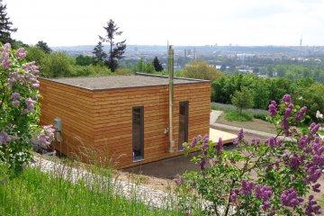 Holzhaus D6/6 für den botanischen Garten im Prag