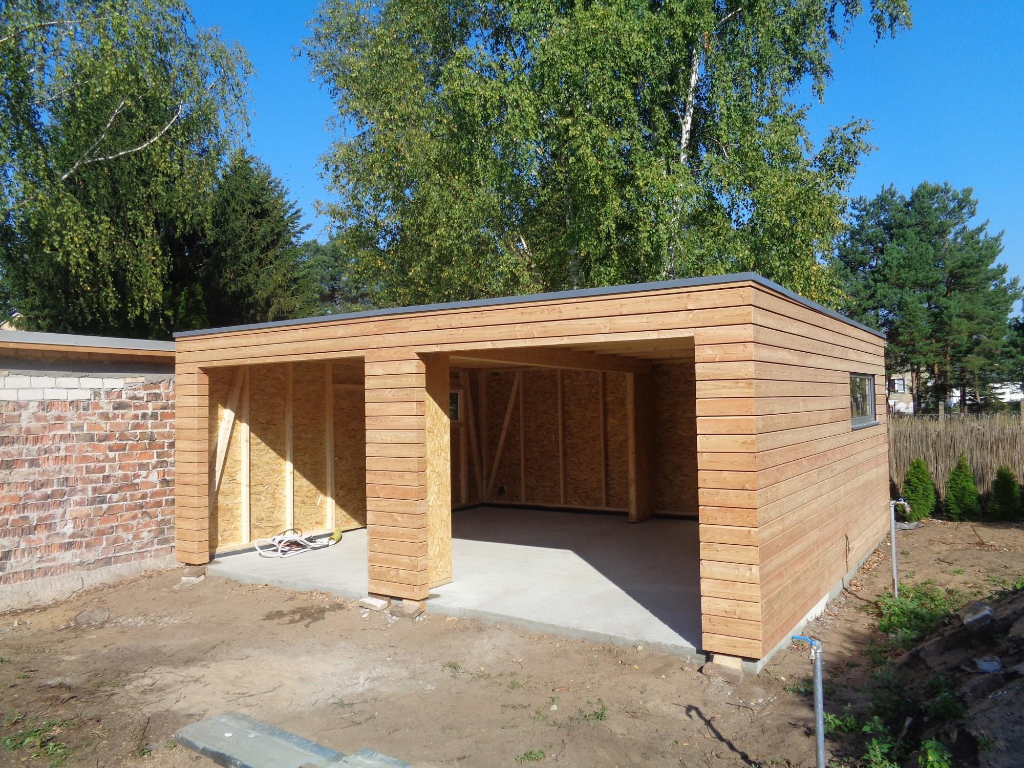 Holzgarage 5 7x6 3 M Naturhouse G5 7 6 Moderne