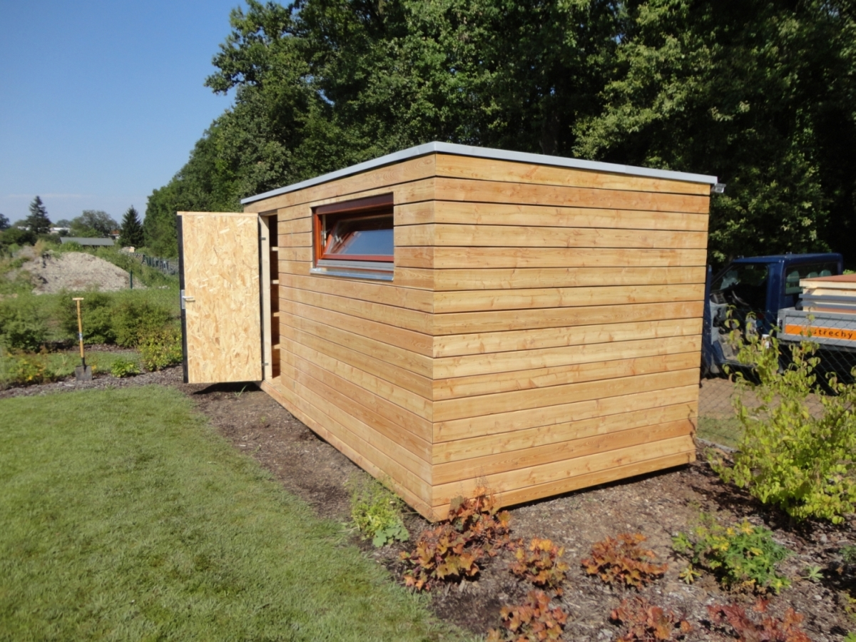 Gartenhaus S12   5x2,5 m   Kostomlaty   Referenzen NATURHOUSE
