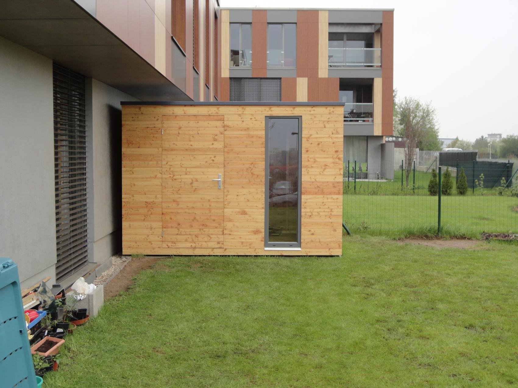 Moderne Gartenhaus S7 - 3,25 X 2 M - Prag - Referenzen Naturhouse ... Modernes Gartenhaus Fur Gartengerate