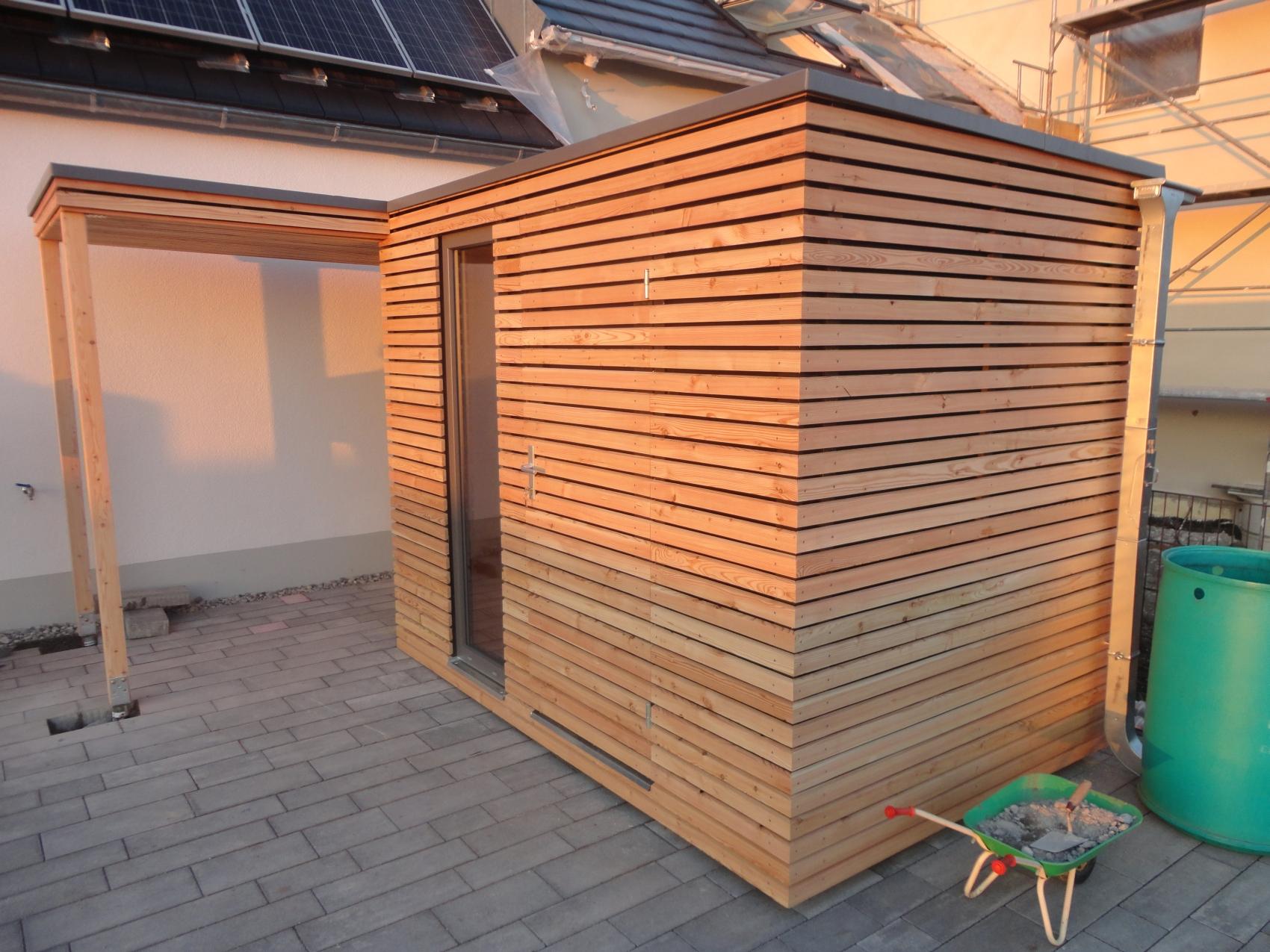 gartenhaus s5 + vordach - großaitingen - referenzen naturhouse