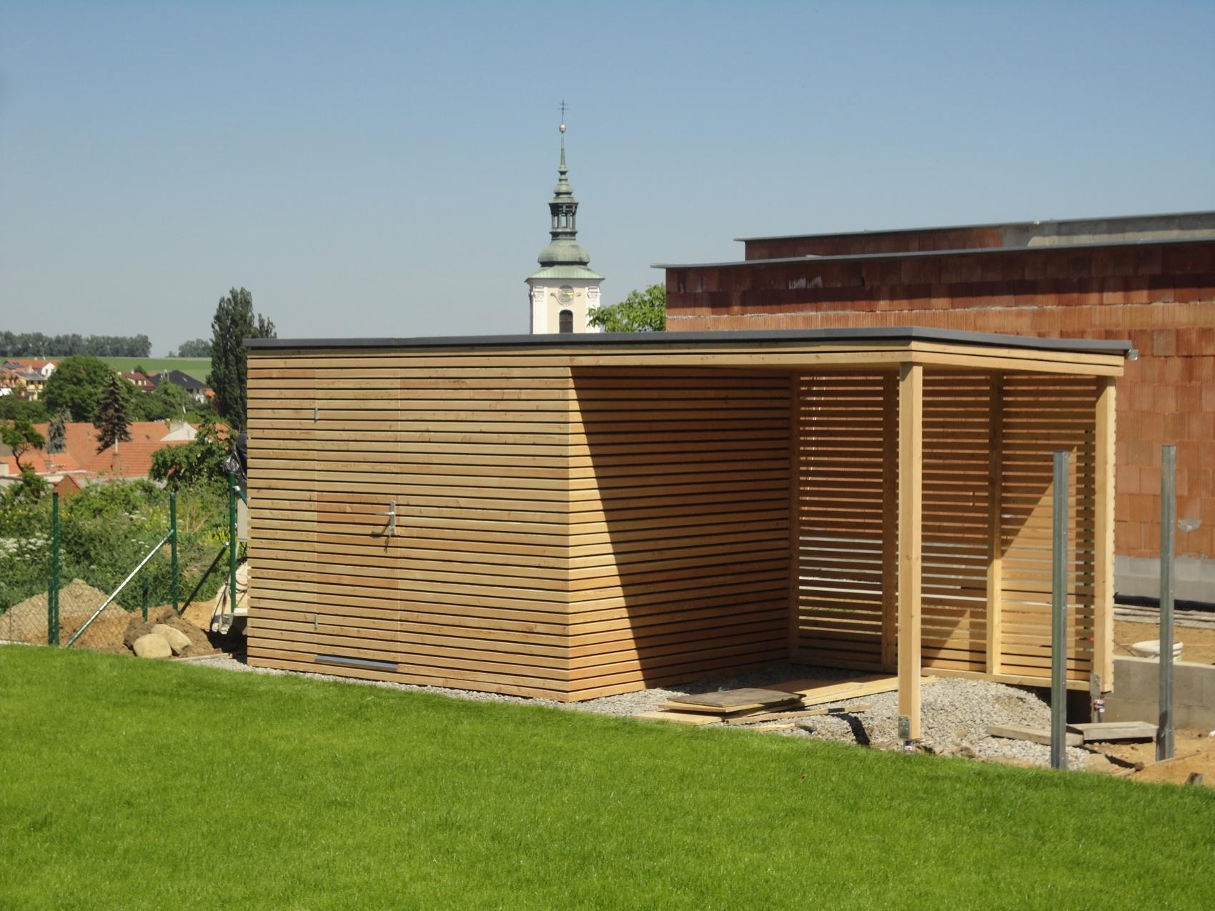 Geratehaus S9   3x2,5 m + Vordach   Vyskov   Referenzen NATURHOUSE